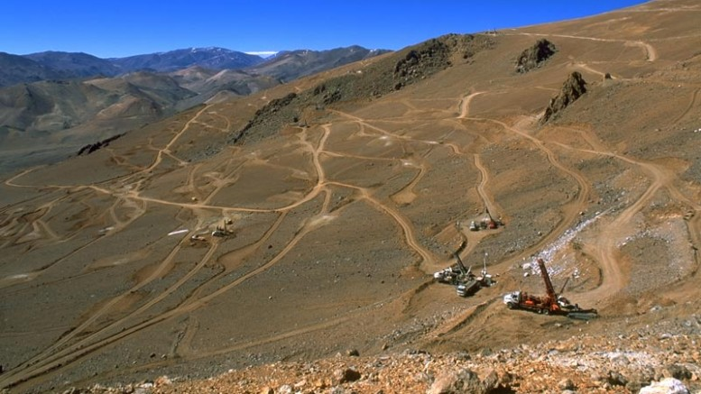 Drillers at Barrick Gold's Veladero project in Argentina. Credit: BarricK Gold