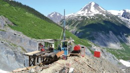A drill site at Seabridge Gold's KSM gold-copper project, 65 km northwest of Stewart, British Columbia. Credit: Seabridge Gold
