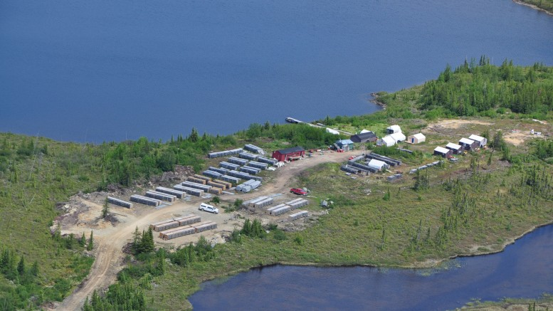 Eastmain Resources' Clearwater base camp in Quebec's James Bay Lowlands region, as seen in 2011. Credit: Eastmain Resources