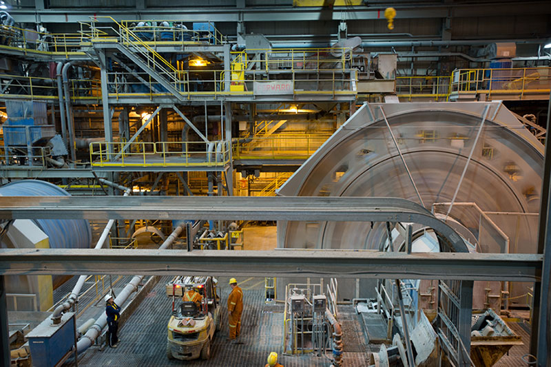 Barrick Gold's Hemlo mill, located approximately 350 kilometers east of Thunder Bay, Ontario. Credit: Barrick Gold