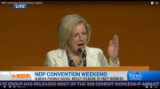 Alberta Premier Rachel Notley at the 2015 NDP national convention. Screengrab: CTV News