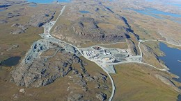 The Doris camp at TMAC Resources' Hope Bay gold project in Nunavut, 125 km southwest of Cambridge Bay. Credit: TMAC Resources