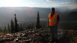 Victoria Gold president and CEO John McConnell at the Dublin Gulch project. Photo by Northern Miner staff.