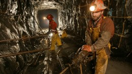Miners working underground at the Seabee gold mine in Saskatchewan. Silver Standard made a bid for the project in March. Credit: Claude Resources.
