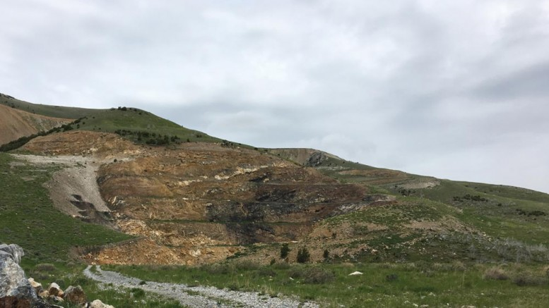 The historic Tallman pit at Pilot Gold's newly aquired Mineral Gulch gold property in Idaho.  Credit: Pilot Gold.