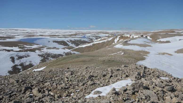 Aston Bay Holdings' Storm copper property in Nunavut, which has attracted BHP Billiton as a partner. Credit: Aston Bay Holdings.