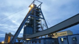 A headframe at Anglo American's Tumela platinum mine in northwestern South Africa. Credit: Anglo American.