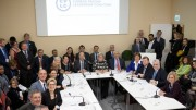 At the launch of the Carbon Pricing Leadership Coalition on Nov. 30, 2015, at the COP21 conference in Paris, with the support of 21 governments and 90 businesses and civil society partners. Credit: World Bank.