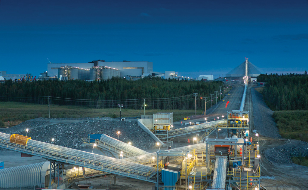 The mill at Agnico-Eagle Mines and Yamana Gold's Canadian Malartic gold mine in Quebec. Credit: Agnico Eagle Mines.