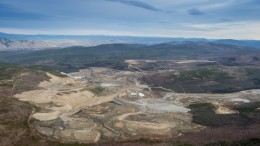 An aerial view of Capstone Mining's Minto copper-gold-silver mine in the Yukon, as seen in 2014. Credit: Capstone Mining.