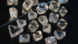 Diamonds from De Beers' Victor mine, in Ontario.