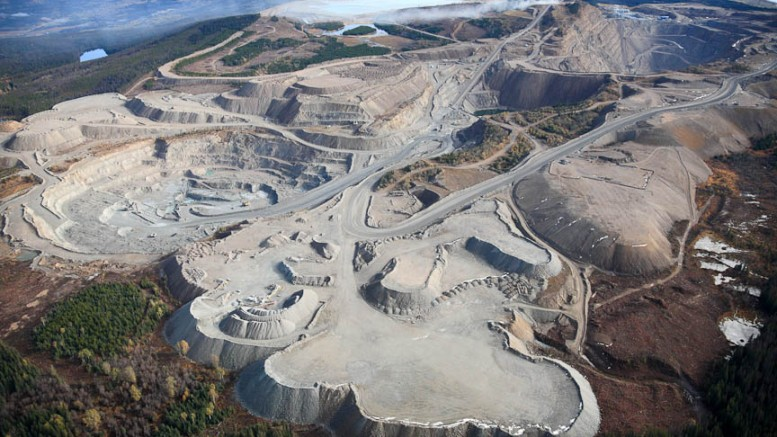 The Endako molybdenum mine, 190 km west of Prince George, British Columbia. Credit: Thompson Creek Metals.