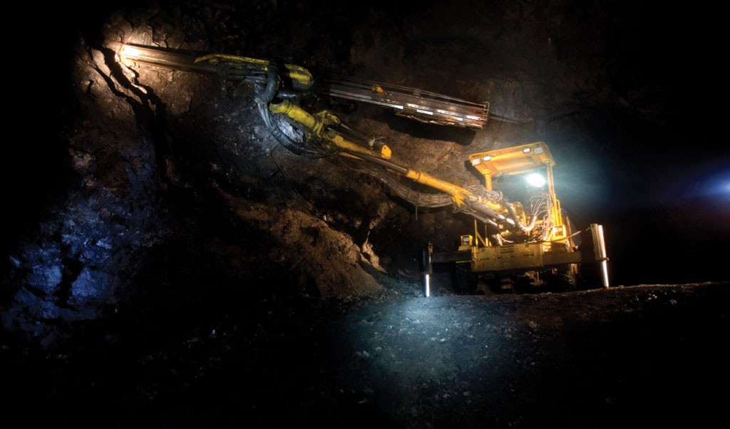 Underground drilling in the Platosa mine.Credit: Excellon Resources.