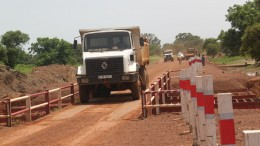 Truckers navigate a road at Orezone Gold's Bomboré gold property in Burkina Faso. Credit: Orezone Gold.