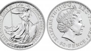 A one-quarter ounce silver bullion coin made by the U.K.'s Royal Mint in 2013.