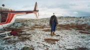 The author Darin Wagner at Doyle Lake, NWT, in 1993. Credit: Darin Wagner