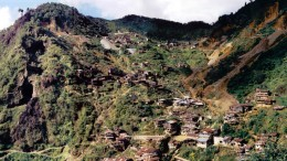 A view of the Nambija gold camp in Ecuador in 2002. Photo by Keith Barron.