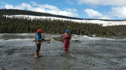 Workers at Barkerville Gold Mines' Cow Mountain gold project. Credit: Barkerville Gold Mines.