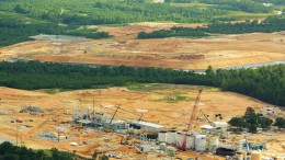 The processing plant under construction at OceanGold's Haile gold mine in South Carolina, as seen on Aug. 11, 2016.Credit: OceanaGold.