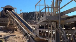 The conveyor belt at Marlin Gold's La Trinidad project in Sinaloa, Mexico. Credit: Marlin Gold.