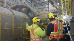 Workers at Kirkland Lake Gold's Macassa mill. Credit: Kirkland Lake Gold.