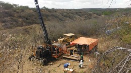A drill site at Crusader Resources' Borborema gold project in Eastern Brazil in 2014. Credit Crusader Resources.
