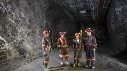 Workers underground at Goldcorp's Éléonore gold mine in Quebec. Credit: Goldcorp.