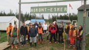 Workers at Noront Resources' Esker exploration camp, including representatives from local First Nations, in Ontario's James Bay lowlands. Credit: Noront Resources.