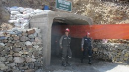 A miner exits Dynacor Gold Mines' Tumipampa gold-copper project, 500 km southeast of Lima. Credit: Dynacor Gold Mines.