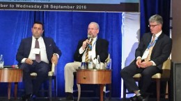 Cesar Lopez, Southern Pioneer Resources' executive chairman, Jim Steel, Eloro Resources' senior vice president of mining, and Rob Henderson, Amerigo Resources' CEO discuss mining in Chile at the Mines and Money Americas conference in Toronto.