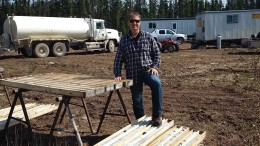 Rockcliff Copper president and CEO Ken Lapierre at the Talbot copper project in Manitoba, where the junior is earning a 51% stake from owner Hudbay Minerals. Credit: Rockcliff Copper.