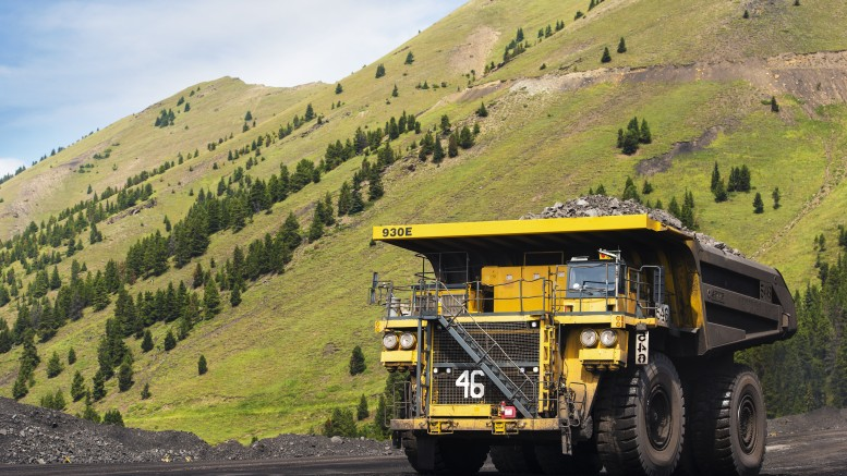 Truck at Teck Resources' Fording River coal mine in southeastern British Columbia. Credit: Teck Resources.