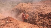 Workers channel-sample a trench in the Hamama West area of Aton Resources' Abu Marawat gold project in Egypt. Credit: Aton Resources.