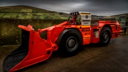 Arrival of mining equipment at Dalradian Resources' Curraghinalt gold deposit west of Belfast, Northern Ireland, in late 2014. Credit: Dalradian Resources.