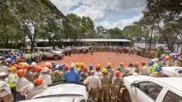 Local employees and expats gather at Ivanhoe Mines' Kamoa copper project in the DRC in 2014. Credit: Ivanhoe Mines.