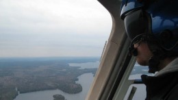 Flying above Matamec's Kipawa heavy REE deposit in Quebec. Photo by Trish Saywell.