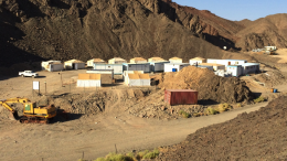 The mining camp at the Abu Marawat concession area. Credit: Aton Resources.