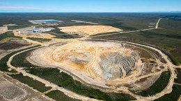 De Beers' Victor open-pit diamond mine in northern Ontario. Credit: De Beers.