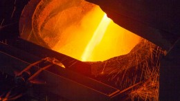 A furnace pour at one of Stillwater Mining's operating facilities. Credit: Stillwater Mining.
