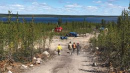 Workers at a drill site at NexGen Energy's Arrow uranium project in northern Saskatchewan. Credit: Nexgen Energy.