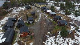 The camp at Eastmain Resources' Clearwater gold project in Quebec's James Bay region. Credit: Eastmain Resources.