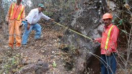 Measuring the America vein at Condor Gold's La India gold property in Nicaragua in 2011. Credit: Condor Gold.