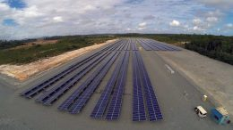 Iamgold's 5 MW solar power plant at its Rosebel gold mine in Suriname. Credit: Iamgold.