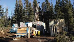 Drilling equipment at Callinex Mines' Pine Bay project in Manitoba. Credit: Callinex Mines.