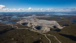 Dominion Diamond's Ekati diamond mine in the Northwest Territories, in 2016. Geologists say that high temperature and pressure 55 million years ago in the Lac de Gras region's Archean-aged crust set the stage for diamond creation. Credit Dominion Diamond.