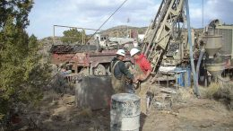 Workers drillIing at NuLegacy Gold's Iceberg gold deposit in Nevada. Credit: NuLegacy Gold.