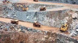 Trucks haul ore at Teranga Gold's open-pit Sabodala mine in Senegal. Credit: Teranga Gold