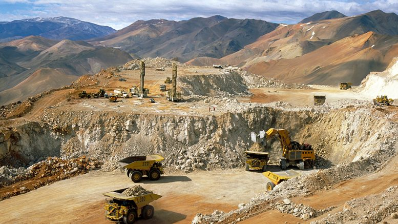 Mining activity at Barrick Gold's Veladero gold mine in Argentina. Credit: Barrick Gold