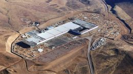 Tesla's Gigafatory near Sparks, Nevada, where the company began producing lithium-ion batteries in January. Credit: Tesla.
