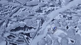 Drilling at Agnico Eagle Mines' Amaruq gold project in Nunavut. Credit: Mike Malocsay at Agnico Eagle Mines.